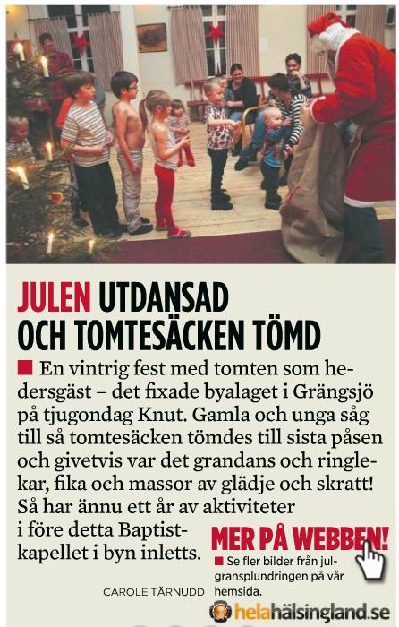 Julgransplundring 13/1 2012